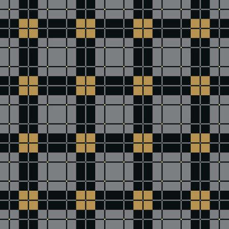 Background of Seamless Plaid Pattern, Abstract Tartan Scottish Fabric, Vector Illustration Vector