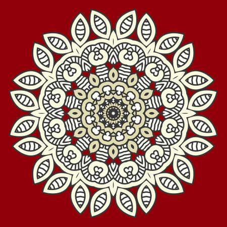 vetrate artistiche: Rotondo Colore Motivo ornamentale, mosaico Vector Stained Glass