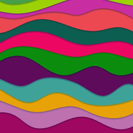 Abstract Design Creativity Background of Colorful Horizontal Waves, Vector Illustration EPS10