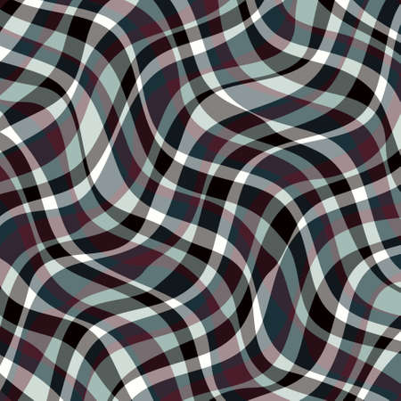 plaid: Abstract Design Creativity Background of Waves, Vector Illustration