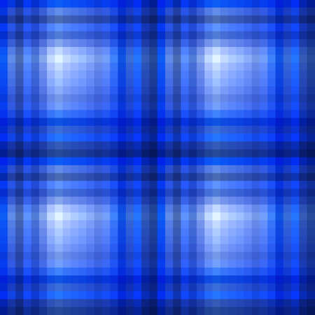 Background of Seamless Plaid Blue Pattern  Vector