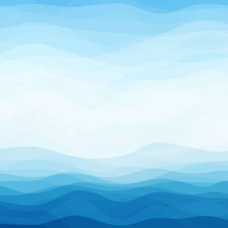 with ocean: Abstract Design Creativity Background of Blue Waves