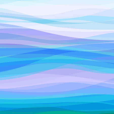 Abstract Design Creativity Background of Blue Horizontal Waves