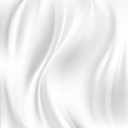 White Silk Fabric for Drapery Abstract Background, Mesh Vector Illustration