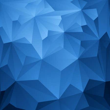 abstracte vormen: Abstracte Blauwe Driehoek Geometrische Achtergrond, Vector Illustratie