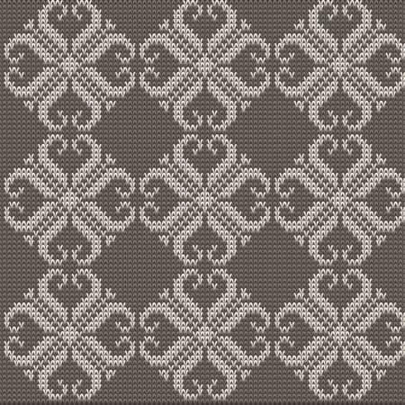 cotton wool: Knitted Pattern Background, Color Wool Vector Texture