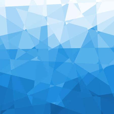 青い三角形の幾何学的背景、ベクター グラフィック抽象的な