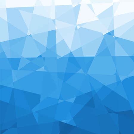 Abstract Blue Triangle Geometrical Background, Vector Illustration