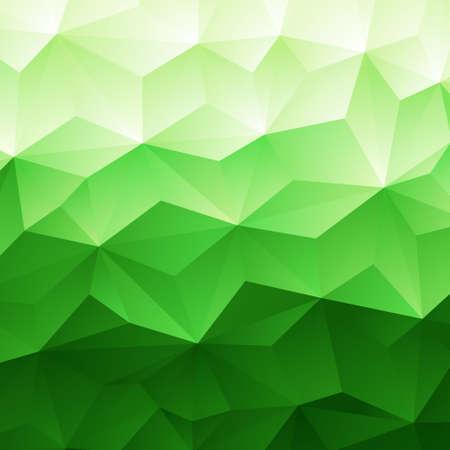 緑色の三角形の幾何学的背景、ベクター グラフィック抽象的な  イラスト・ベクター素材