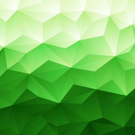 Abstract Green Triangle Geometrical Background, Vector Illustration Vector