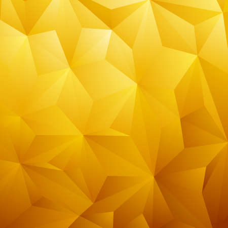 Abstract Yellow Triangle Geometrical Background, Gold Pattern. Vector Illustration