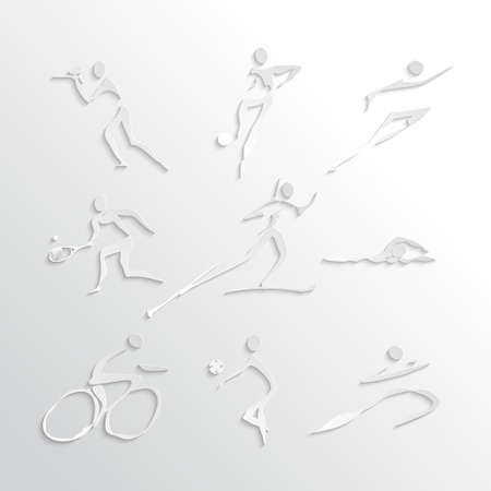 Sports Icons Collection in Flat Design Style Vector