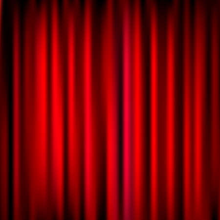 comedy background: Closed Red Theater Curtain, Silk Background, Vector Illustration Illustration