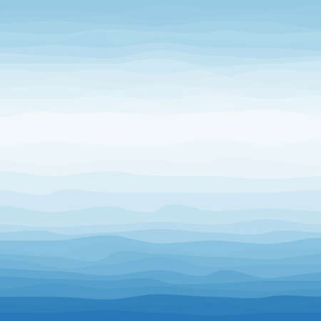 Abstract Design Creativity Background of Blue Waves, Vector Illustration Ilustracja