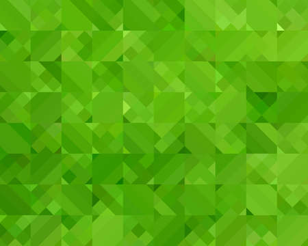 Abstract Green Triangle Geometrical Background, Vector Illustration