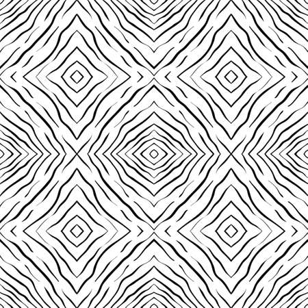 white wallpaper: Seamless Abstract Hand Drawn Pattern. Square Background. Vector Black White Wallpaper Illustration