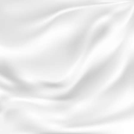White Silk Fabric for Drapery Abstract Background Illustration