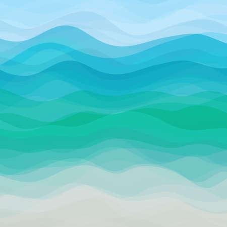青い水平波の抽象的なデザインの創造性の背景