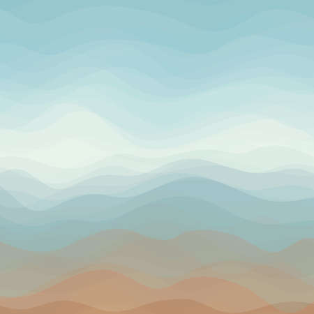 Abstract Design Creativity Background of Color Horizontal Waves
