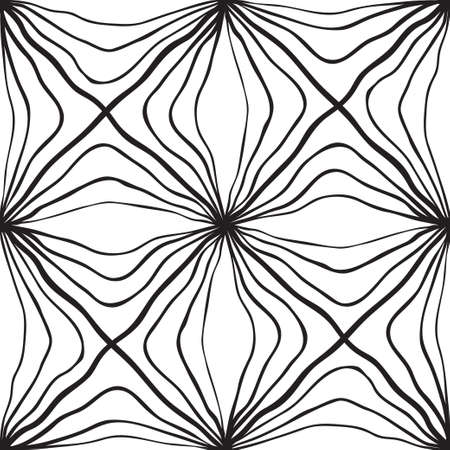 white wallpaper: Seamless Abstract Hand Drawn Pattern. Square.  Black White Wallpaper