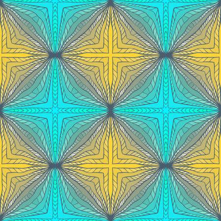groen behang: Naadloos Abstract Color Hand getekende patroon. Vierkant Veelkleurige Geel Groen Wallpaper