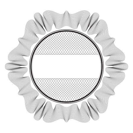 guilloche pattern: Round Vector Guilloche Element for Certificate