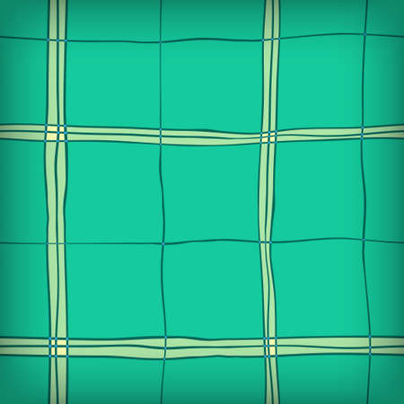 checked: Seamless Hand Drawn Green Background of Plaid Pattern Illustration