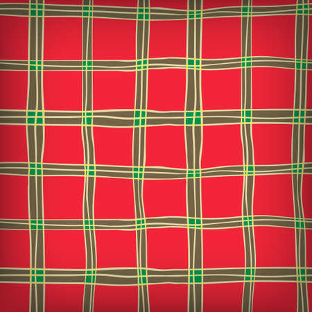 Seamless Hand Drawn Background of Plaid Pattern Vector