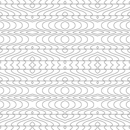 Vector Seamless Illustration of Tangier Grid, Abstract Guilloche Background Illustration