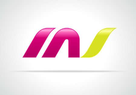 M 文字の組み合わせと s.、創造的なコンセプトのアイコン  イラスト・ベクター素材