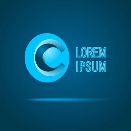 c: Abstract Vector Icon Design Template. Creative Blue Concept Icon. Combination of Letter C Illustration