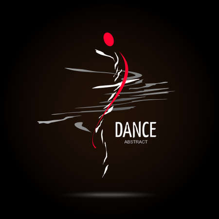 Resumen de vectores icono de plantilla de diseño. Concepto Creativo Icono Danza