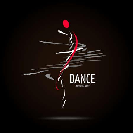 Abstract Vector Icon Design-Vorlage. Kreative Tanz Konzept Icon