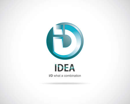 Combination of Letters I and D. Abstract Vector Design Template. Creative Blue Concept Icon Vector
