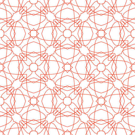Vector Seamless Illustration of Red Tangier Grid, Abstract Guilloche Background illustration
