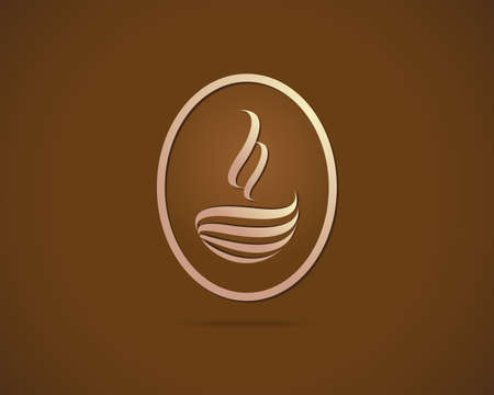 Coffee Cup Vector Logo Design Template  Cafe Shop Emblem Sign Icon Vector