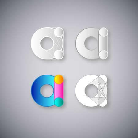 Abstract Vector Design Template  Creative White and Color Concept Icons  Combination of Letter A Vector