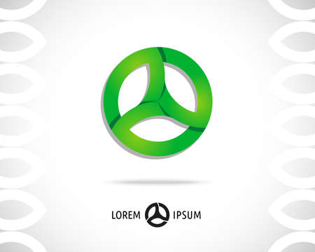 steering wheel: Abstract Vector illustration  Design Template  Creative Round Concept Icon