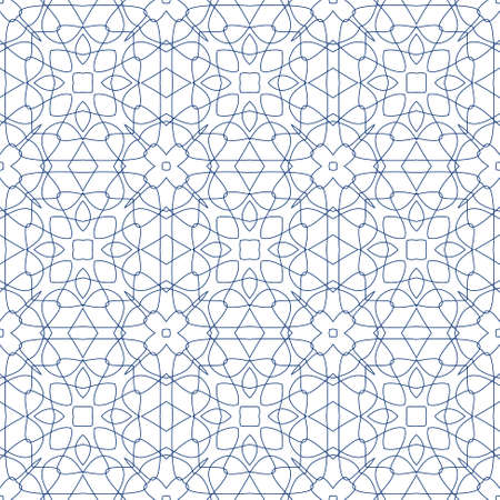 tangier: Vector Seamless Illustration of Tangier Grid, Abstract Guilloche Background Illustration