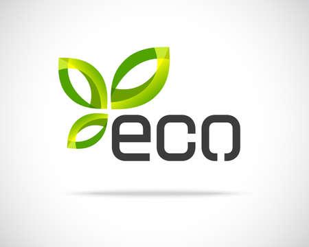 Abstract Vector Eco Green Leaf illustratie Ontwerpsjabloon Creatieve ecologie Concept pictogram