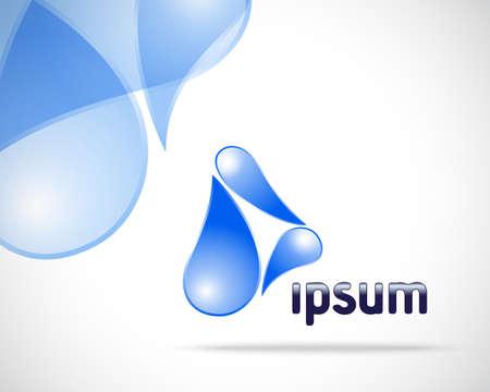 color drops: Abstract Vector Logo Water Design Template  Creative Blue Drop Concept Icon Illustration