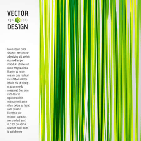 Pattern of Green and Yellow Stripes with Banner Vector