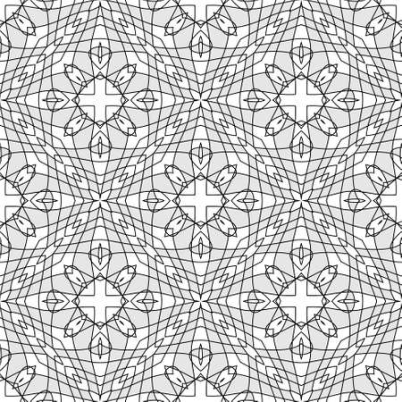 Seamless Illustration of Tangier Grid, Abstract Guilloche Background