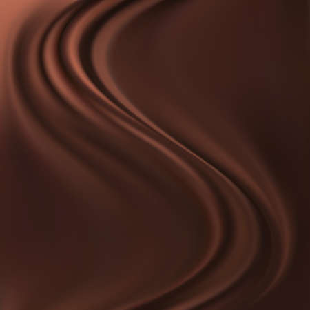 Abstract Chocolate Background, Brown Drapery Silk, Vector Illustration Ilustracja