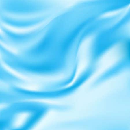 tela seda: Tela de seda azul de la pañería fondo abstracto, ilustración vectorial