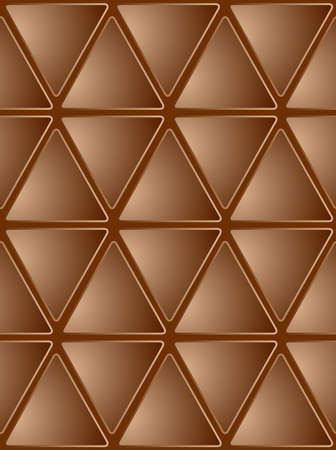 Abstract Seamless Brown Mosaic Background. Vector Illustration Vector