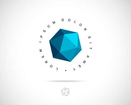 Zusammenfassung Vektor-Logo-Design-Vorlage. Kreatives Konzept 3d Icon Illustration