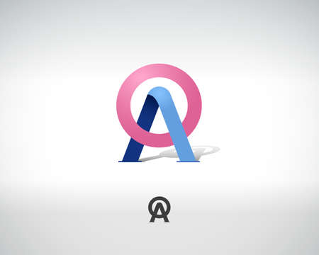 combinations: Combination of Letters A and O. Abstract Vector icon Design Template. Creative Concept Icon