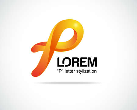 Combination of Letter P. Abstract Vector Logo Design Template. Creative Concept Icon