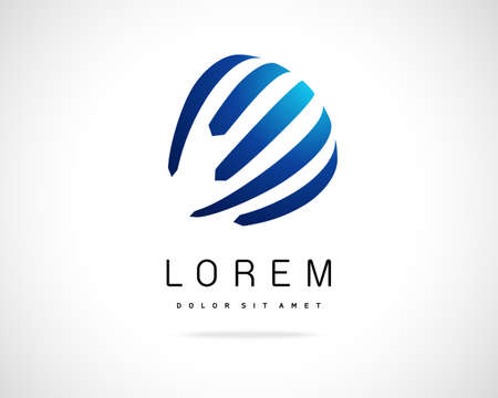 voile: Design R�sum� Vector Logo Template. Creative ronde Icon Concept